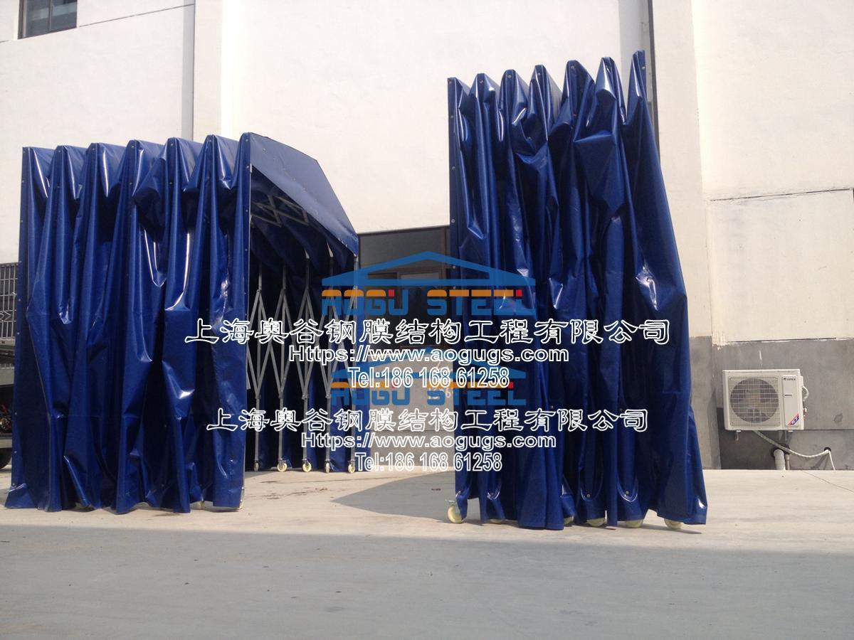 伸缩 活动 折叠 推拉雨篷 结构类型