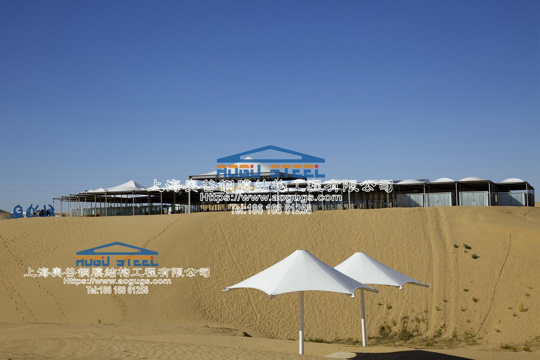 响沙湾景观张拉膜伞造型 产品演示图2
