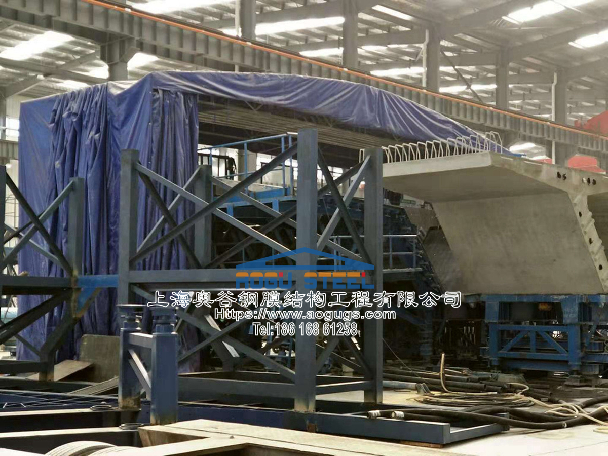 工业设备用伸缩活动推拉雨篷罩工地 用雨棚 (6).jpg