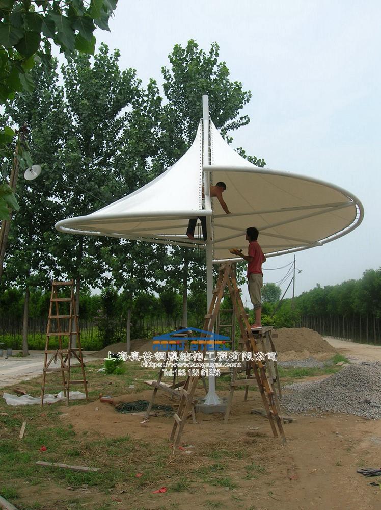 新款张拉膜结构景观膜伞产品演示图1