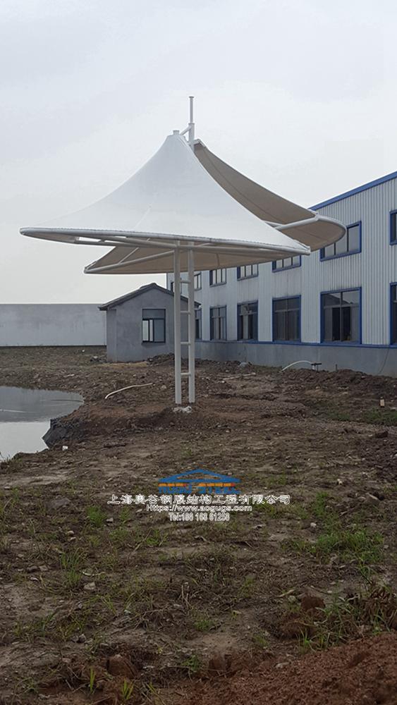 新款张拉膜结构景观膜伞产品演示图3