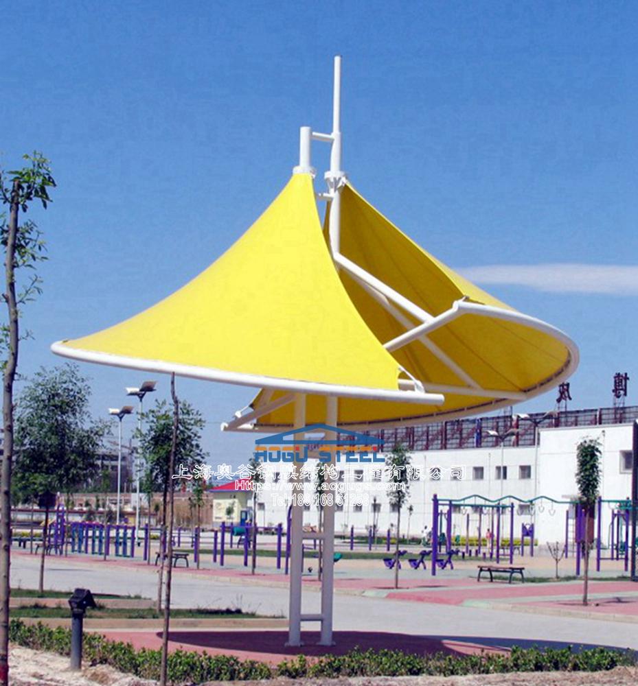 新款张拉膜结构景观膜伞产品演示图4