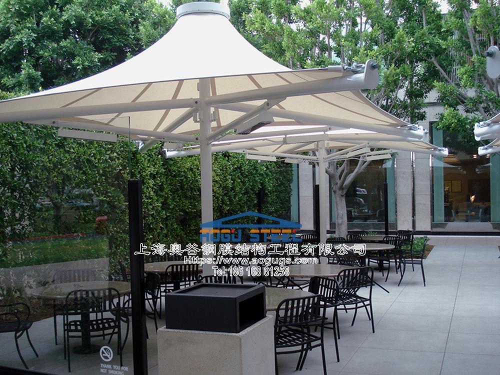 景观张拉膜结构建筑遮阳雨伞产品演示图3