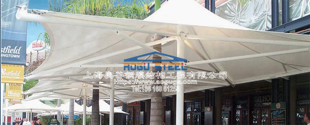 景观张拉膜结构建筑遮阳雨伞产品演示图4