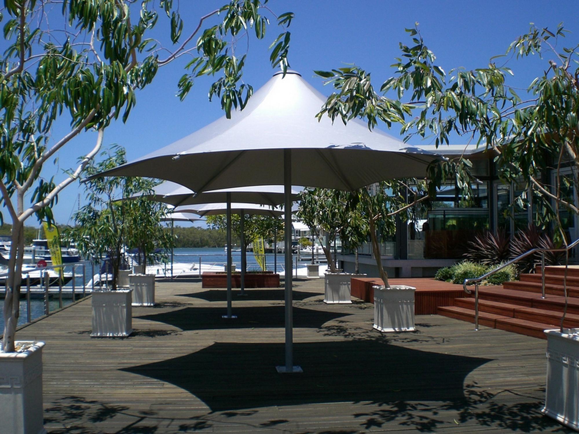 膜结构遮阳雨伞分类介绍产品演示图1