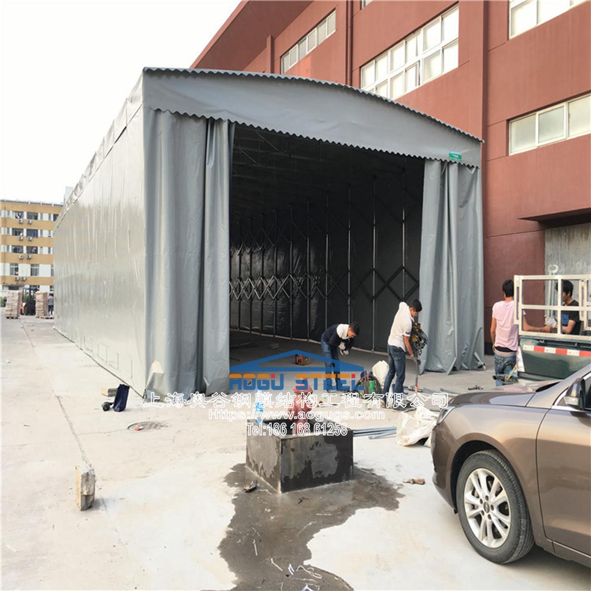 厂家直销伸缩推拉雨棚真材实料质量保证