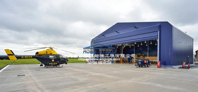 大跨度快速安装可拆装式张拉膜结构机库结构雨棚产品演示图3