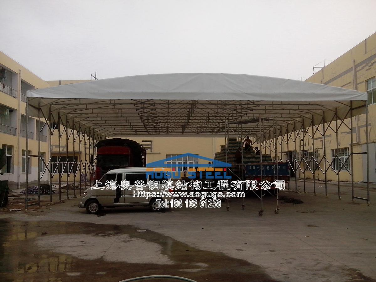 大型工厂仓储推拉雨棚002