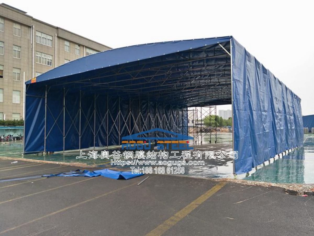 大型工厂仓储推拉雨棚006