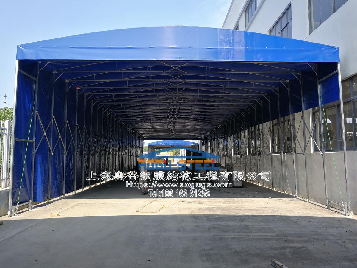 大型工厂仓储推拉雨棚007