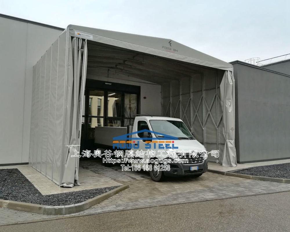 大型工厂仓储推拉雨棚009