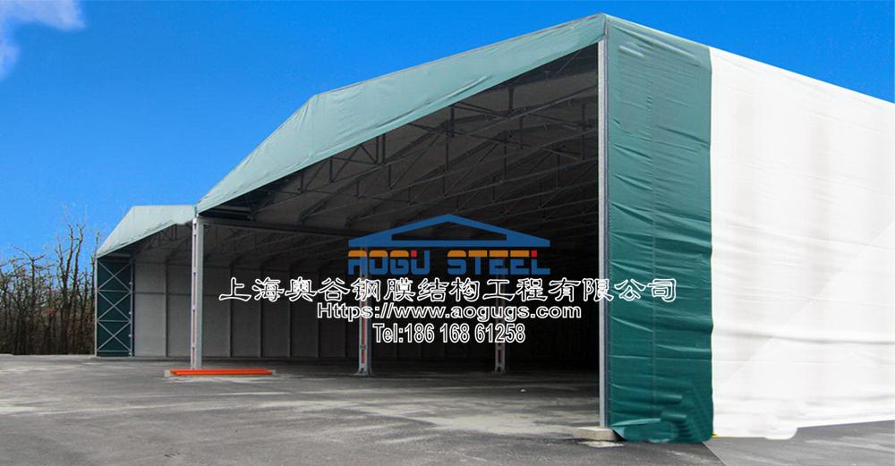 大型工厂仓储推拉雨棚012