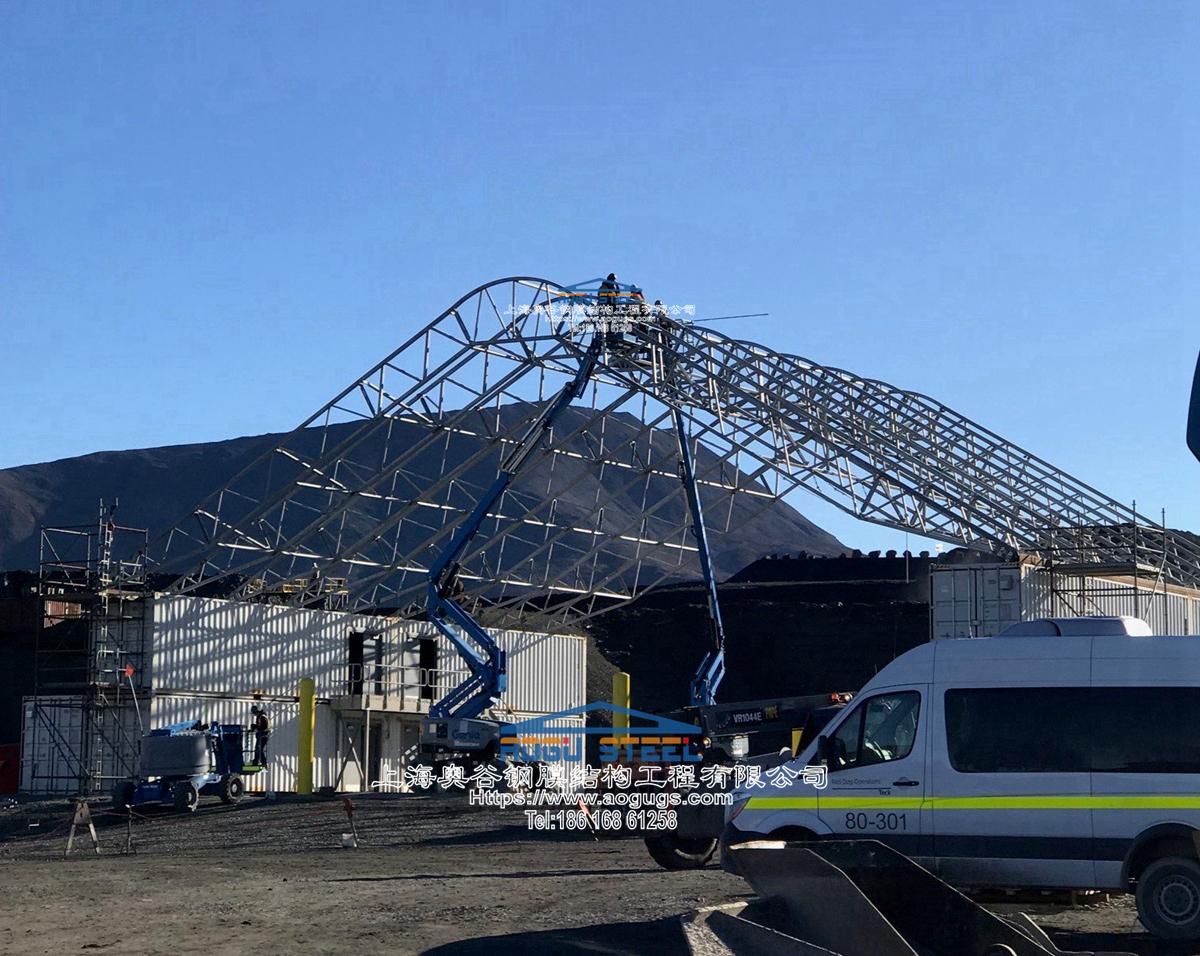 大跨度工厂仓储堆放区雨棚