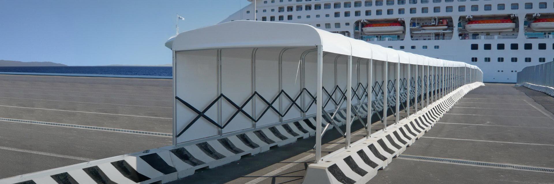 防疫防控通道连廊过道伸缩折叠推拉雨篷
