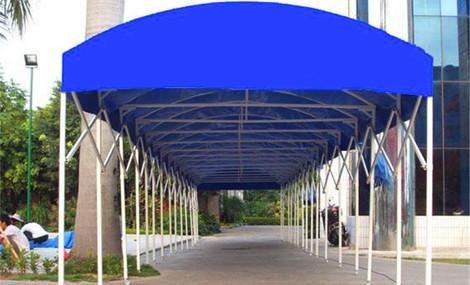 南京江宁区大跨度膜结构伸缩移动雨棚帐篷安装公司